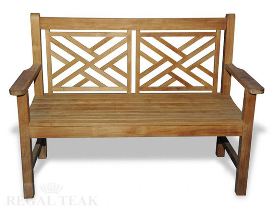 Picture of Teak Chippendale Bench 4 Ft