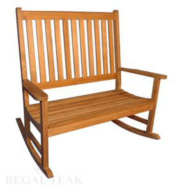 Picture of Teak Double Carolina Rocker