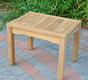 Picture of Teak Rosemont Backless Bench 24in