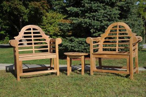 Picture of Teak Marlboro Lutyens single Chair