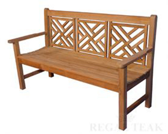 Picture of Teak Chippendale Bench 5ft