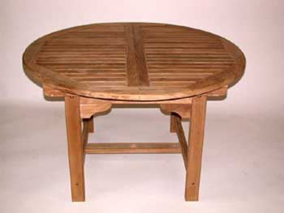 Picture of Round Extension Table 48in dia, 16in Leaf