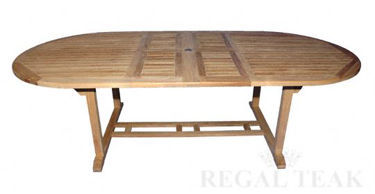 Picture of Large Oval Double Extension Table