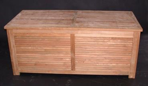 Picture of Teak Hearth and Patio chest - 56in W, 22.5in H, 31.5in D