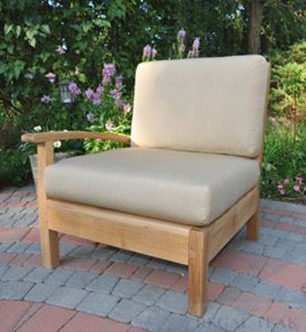 Picture of Teak Deep Seating Sectional RIGHT unit w Cushion