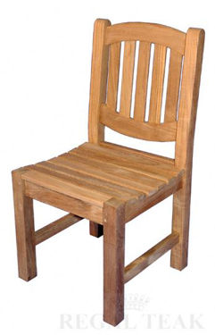 Picture of Teak Boston Oval Chair No arms, 21in D, 18in W, 35in H