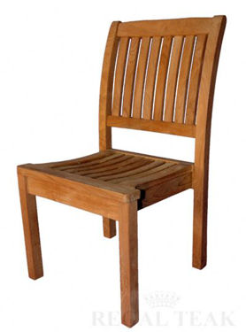 Picture of Teak Stacking Chair without arms
