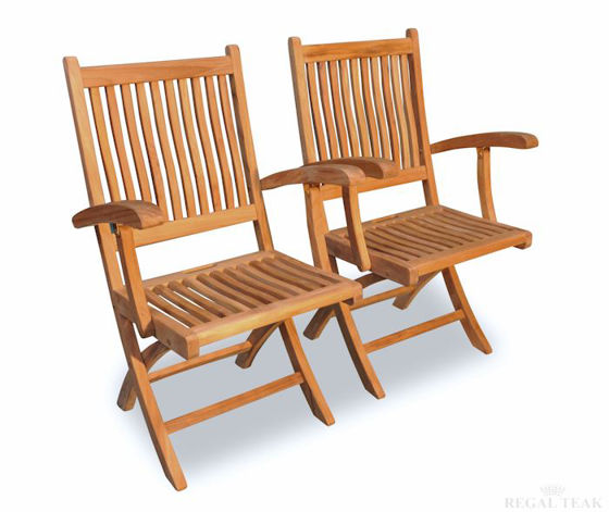 Picture of Teak Rockport Chair with Arms