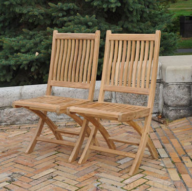 Picture of Teak Rockport Chair without Arms