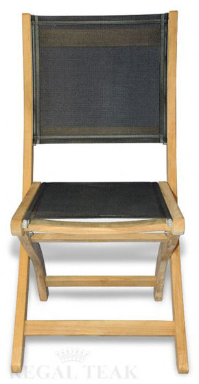 Picture of Teak Providence Chair no arm Batyline Black