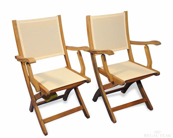 Picture of Teak Providence chair with Cream Fabric