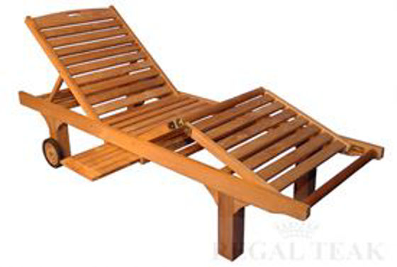 Picture of Teak Chaise Lounge