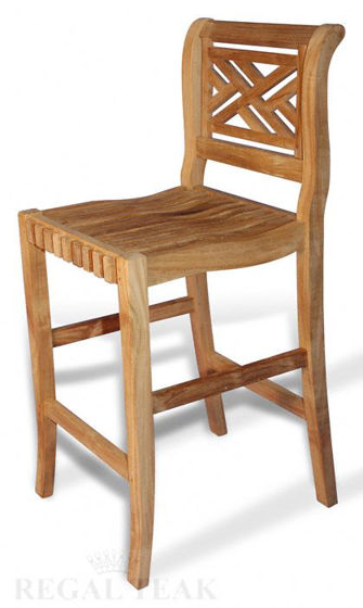 Picture of Teak Chippendale Bar Chair