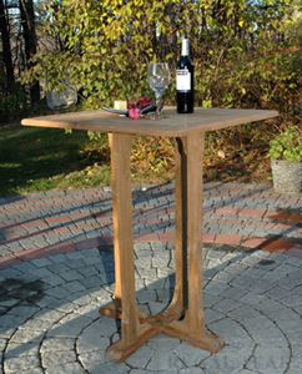 Picture of Teak Square Bar Table