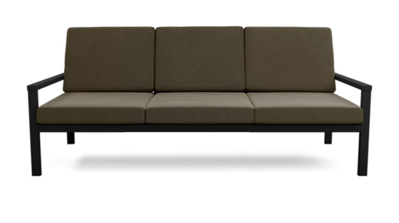 EQUINOX PAINTED THREE-SEATER SETTEE DS