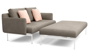 LAYOUT DEEP SEATING DOUBLE OTTOMAN